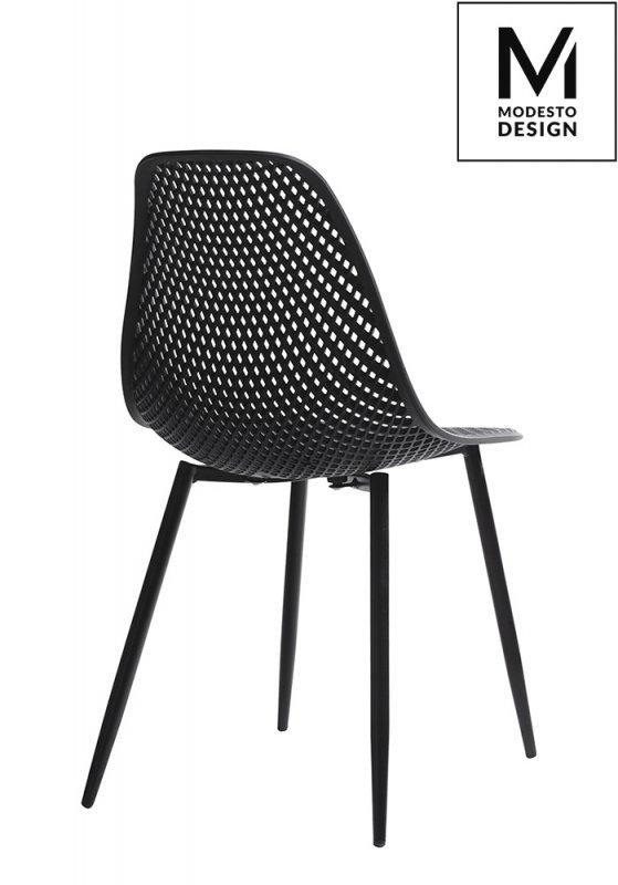 MODESTO krzesło TIVO czarne - polipropylen, metal