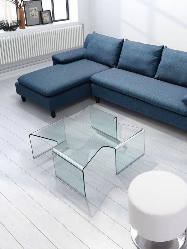 Stolik szklany AXENTA transparentny - szkło 12 mm.