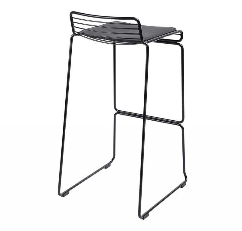 Hoker ROD SOFT czarny - czarna poduszka, metal