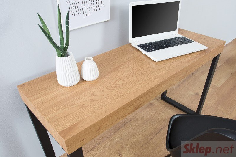 INVICTA biurko OAK 120 dąb - fornirowany MDF, nogi metalowe