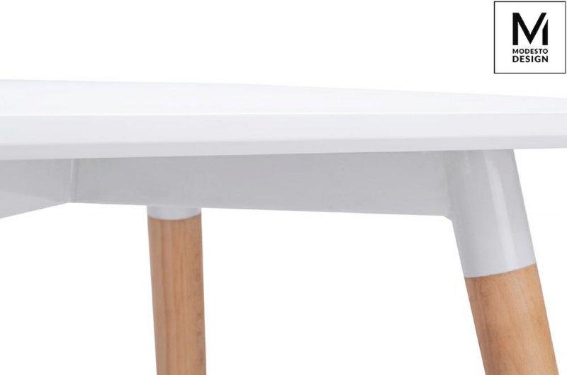 MODESTO stół CONSUL biały - blat MDF, podstawa drewniana