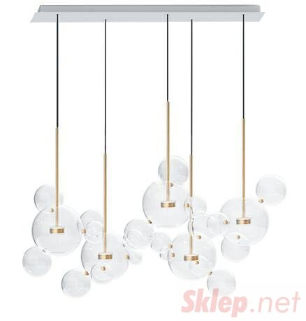 Lampa wisząca CAPRI LINE 5 złota - LED, aluminium, szkło
