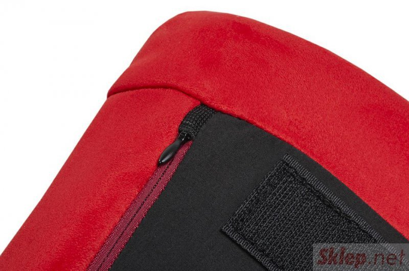 Fotel FIN VELVET czerwony  - welur, podstawa stal