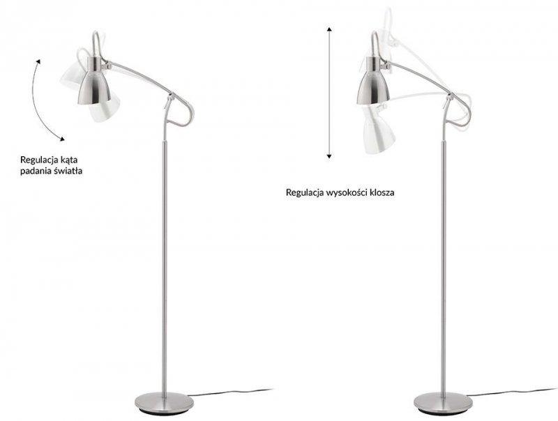 Lampa podłogowa LETTURA - stal węglowa