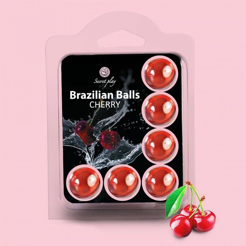 SET 6 BRAZILIAN BALLS CHERRY