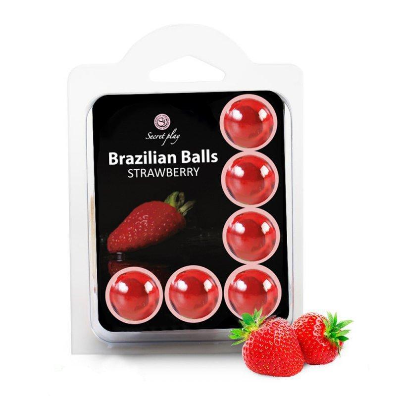 SET 6 BRAZILIAN BALLS STRAWBERRY
