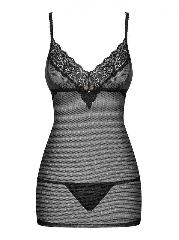Bielizna-852-CHE-1 koszulka i stringi  S/M