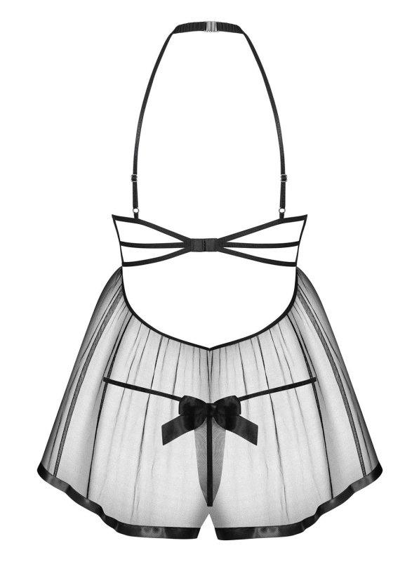 Bielizna-Delishya babydoll i stringi czarna  S/M