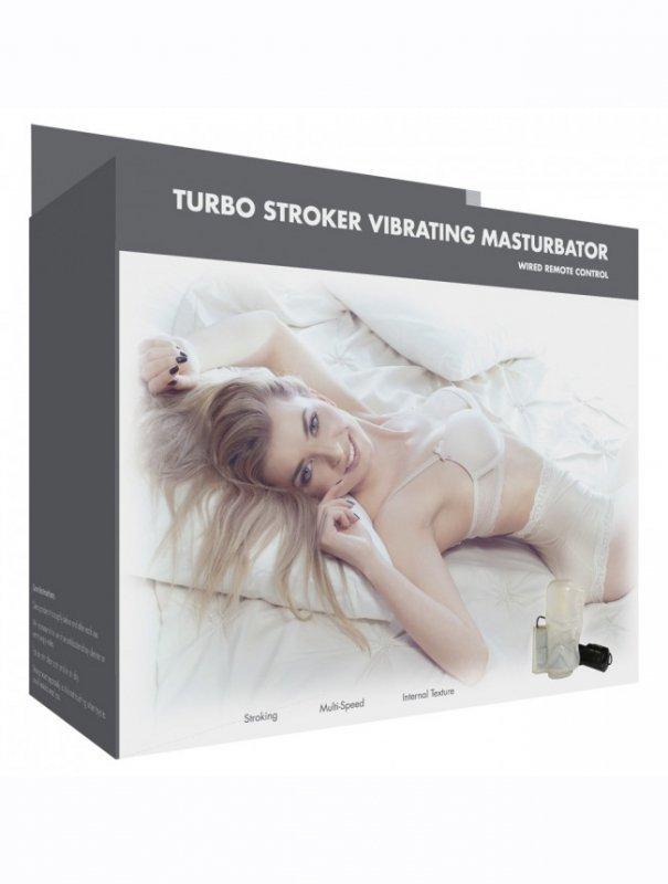 Masturbator-Linx Turbo Stroker Vibrating Masturbator White OS