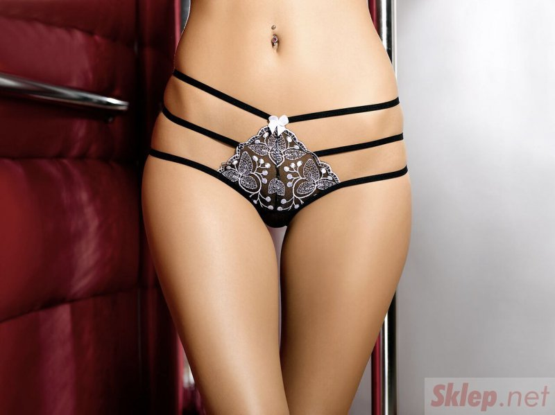 Bielizna-Chantal string black XL (czarne stringi)