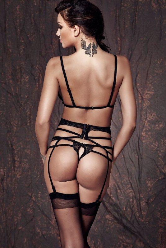 Bielizna-Sapphira 3pcs S (biustonosz,string,pas/bra,string,garter belt)