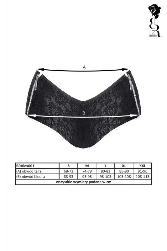 Bielizna - BRALEX001 szorty czarne rozmiar L