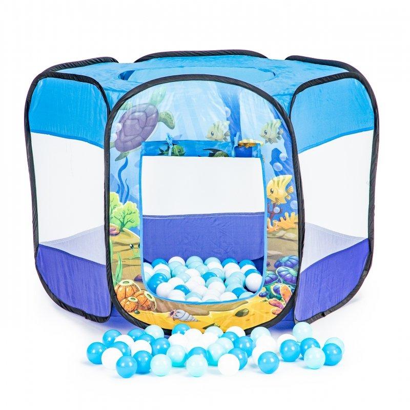 Suchy basen namiot rozkładany dla dzieci 100 piłek