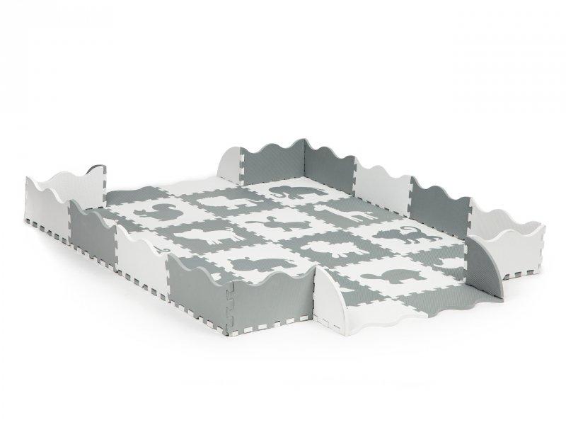 Mata piankowa z płotkiem puzzle suchy basen 36 elementów Ecotoys