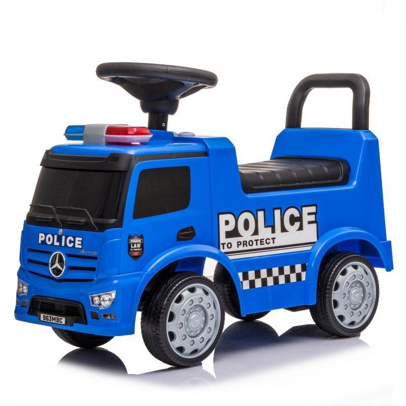 Jeździk chodzik autko Mercedes Policja + led