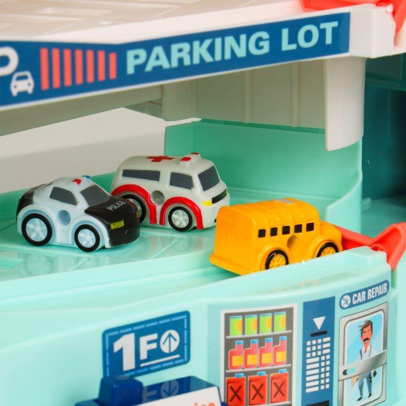 Parking garaż elektryczna winda samochodziki autka