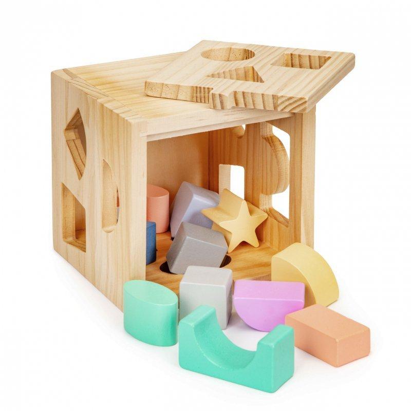 Kostka edukacyjna drewniana sorter klocki Ecotoys