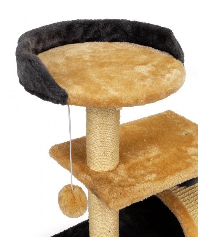 Drapak dla kota piętrowe legowisko drzewko wisząca zabawka