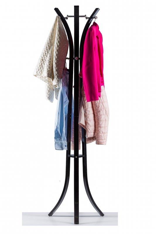 Wieszak stojak na ubrania podłogowy  Czarny ModernHome