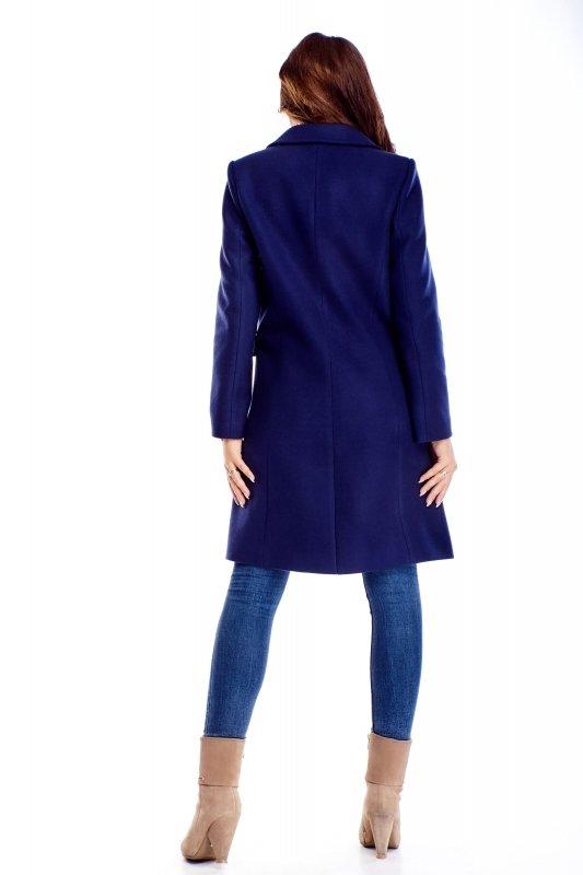 klasyczny dwurzędowy płaszcz