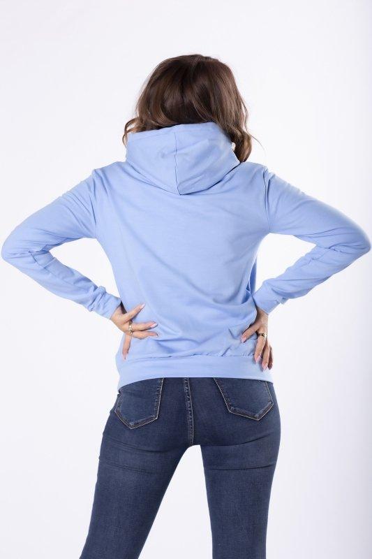 bawełniana bluza z kapturem i ozdobnym ściągaczem