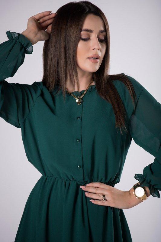 szyfonowa sukienka z guzikami