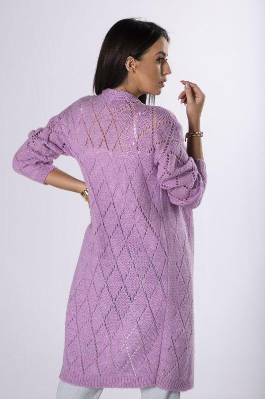 ażurowy sweter