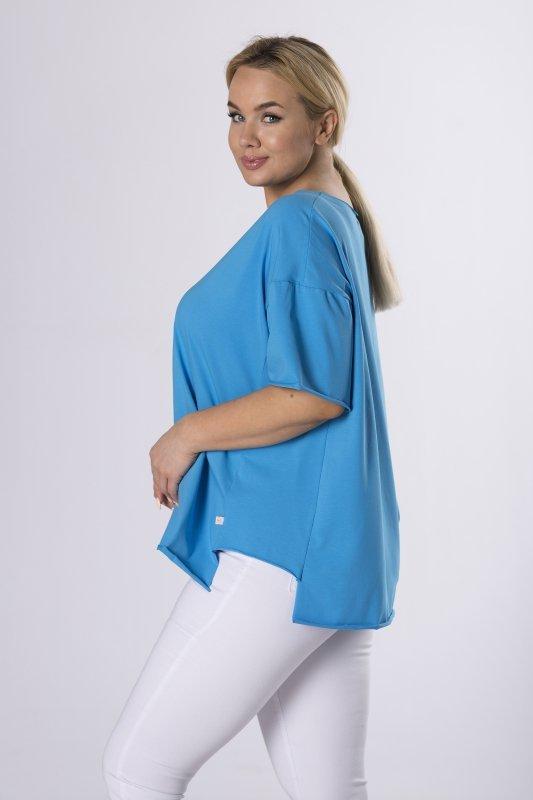 oversizowa bluzka z surowym wykończeniem