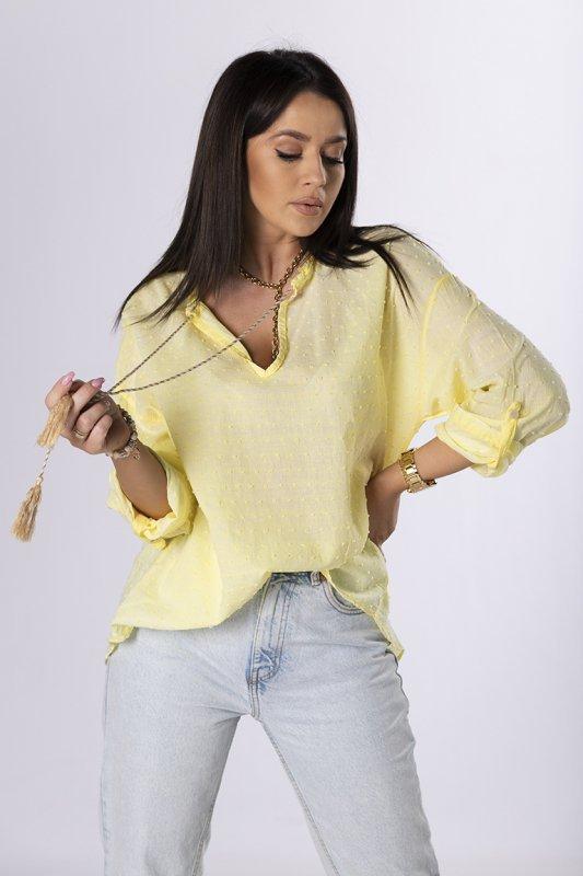bluzka koszulowa z chwostami