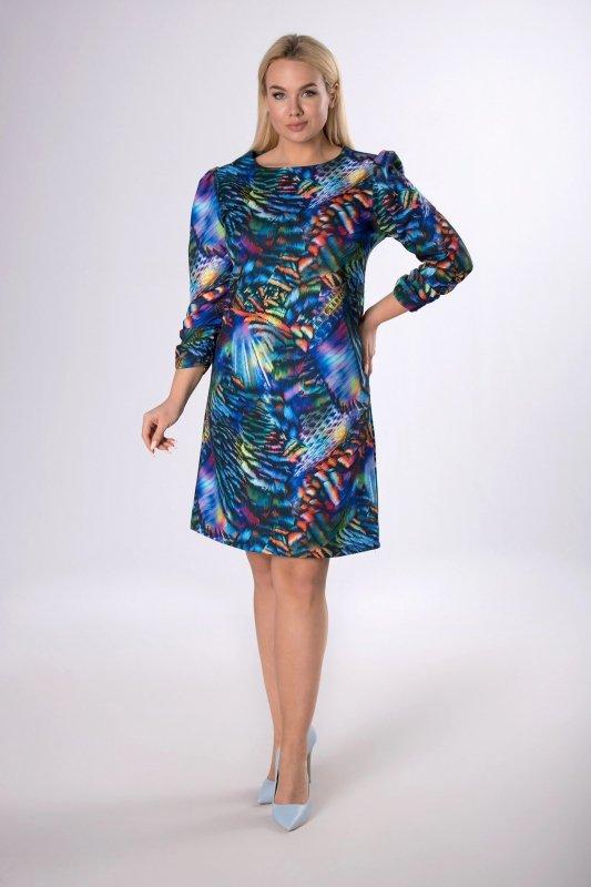 Klasyczna sukienka z marszczeniem przy rękawie