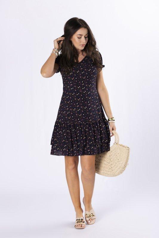 sukienka mini z falbankami