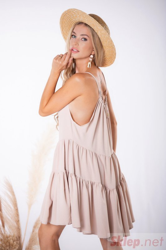 sukienka mini na ramiączkach