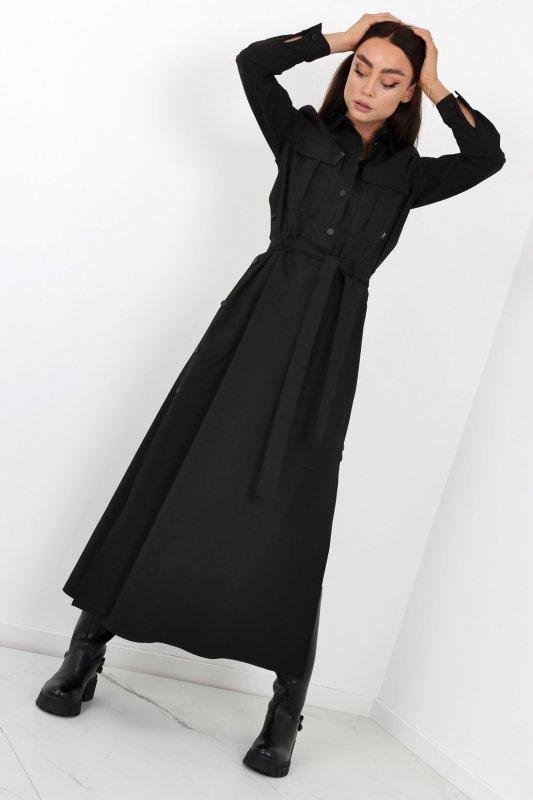 sukienka maxi z rozcięciami