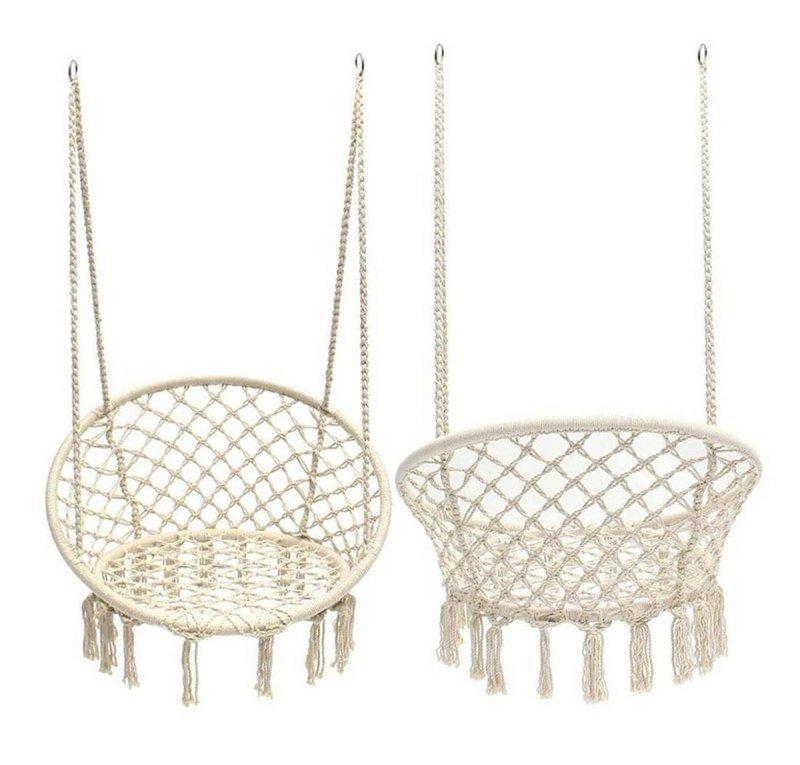 AG233G Krzesło wiszące gniazdo beżowe