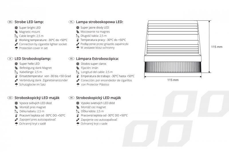 01277 Lampa stroboskopowa LED AMiO 24V