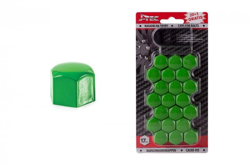 Nasadki na śruby 17 mm zielone
