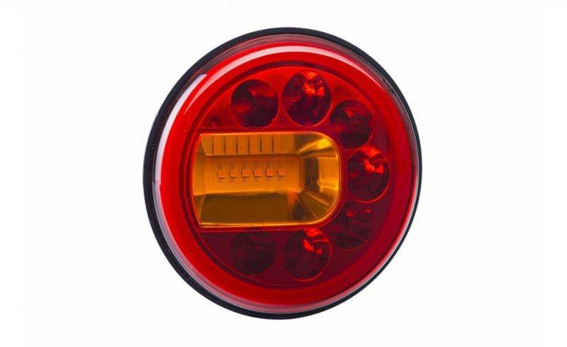 Lampa zespolona tylna hor 96a - luna, diodowa 12/24v, lewa (wersja naścienna, światło pozycyjne, hamowania i kierunkowskaz, prze