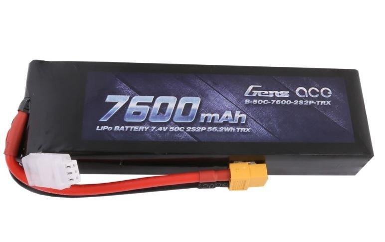 7600mAh 7.4V 50C XT60 PC Gens Ace