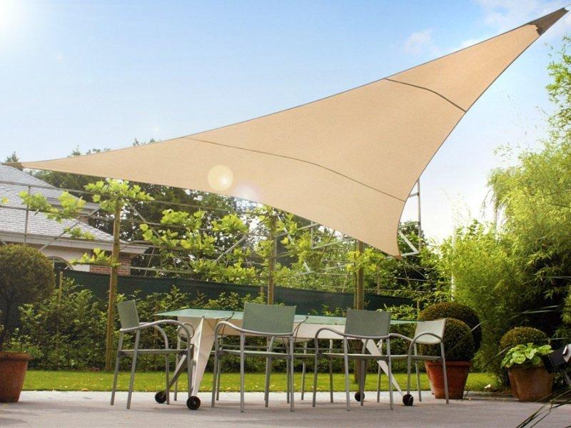 Żagiel ogrodowy zacieniacz UV poliester 4m trójkąt GreenBlue GB501  kremowy hydrofobowa powierzchnia