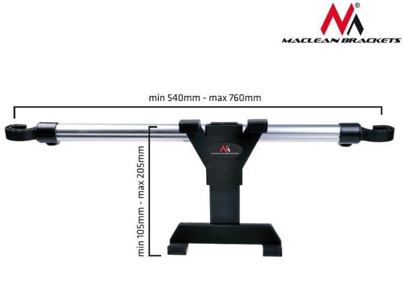 Samochodowy uchwyt do tabletu  7-10.1''  Maclean MC-657 do montowania na zagłówek uniwersalny