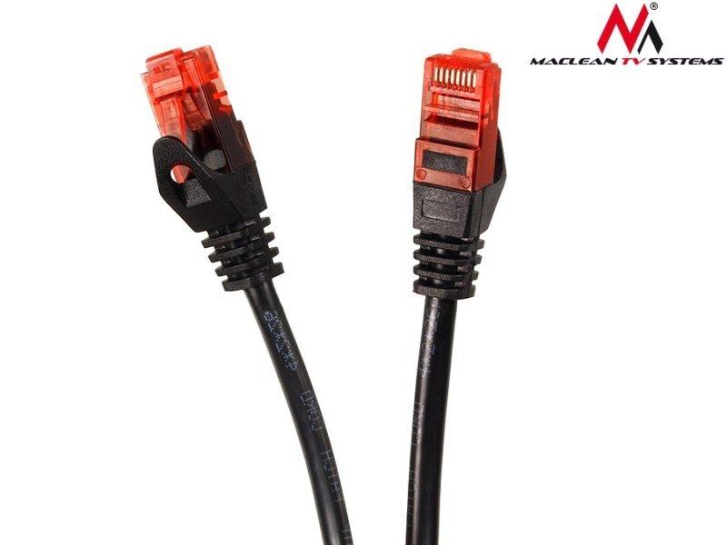 Przewód kabel patchcord UTP cat6 wtyk-wtyk 5m czarny Maclean MCTV-743