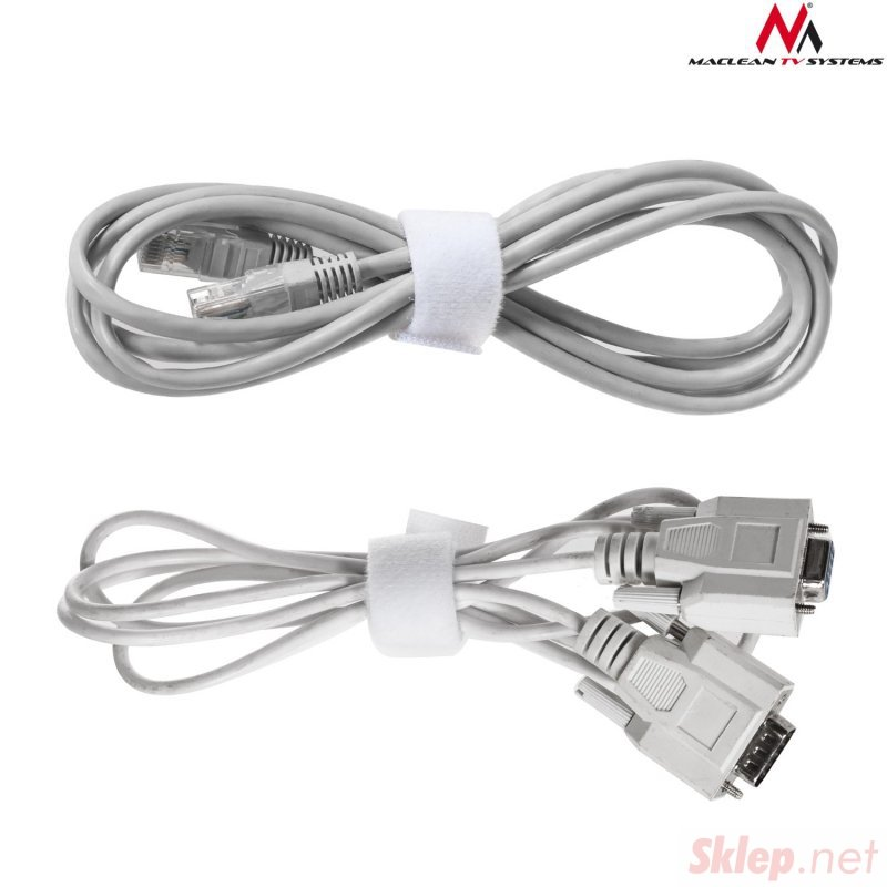 Organizator kabli taśma rzep dwustronna 20mm*15,3m Maclean MCTV-543 biała