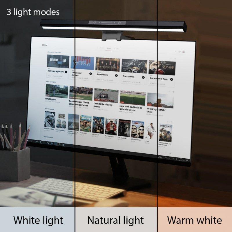 Lampka  LED Maclean, Do komputera regulowana, 3 kolory świecenia, Regulacja jasności, USB Type-C, 5V, MCE620