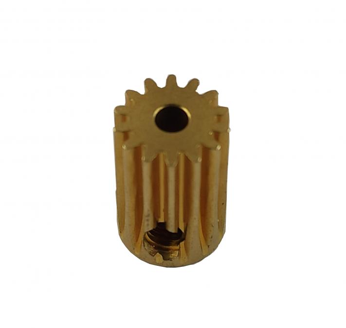 Zębatka mosiężna 14T 0.5M H12, otwór 2.3mm