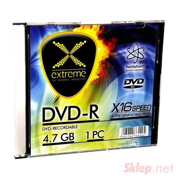 1168 DVD-R 4,7GB X16 - Slim Case 1  sztuka Extreme