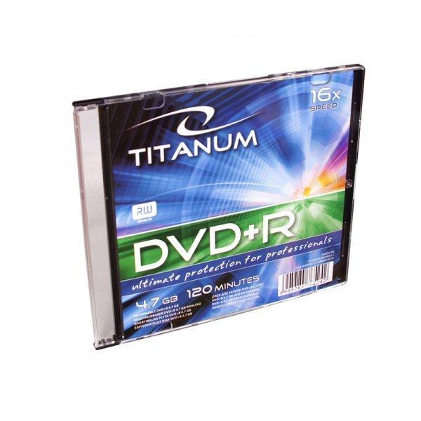 1292 DVD+R 4,7 GB X16 - Slim 1 sztuka Titanum