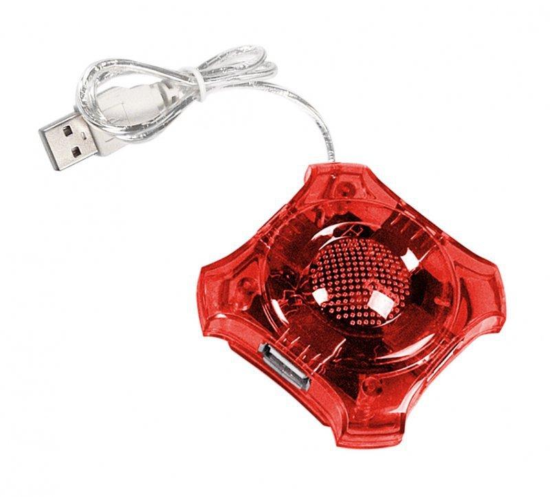EA150R Esperanza usb 2.0 hub 4 porty star czerwony