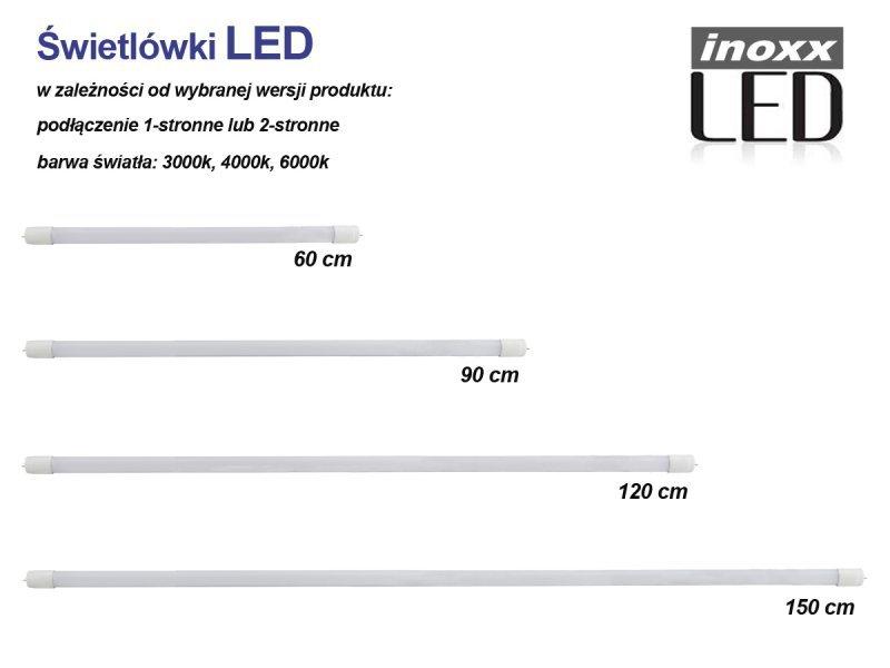 Świetlówka led 90cm 14w 3000k t8 jednostronna ciepła