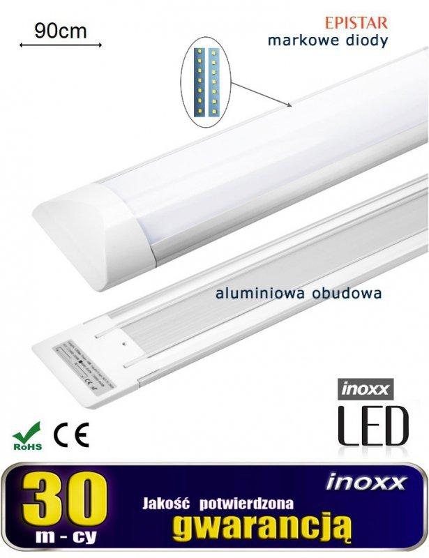 Lampa liniowa natynkowa panel led slim 90cm 30w 3000k ciepła