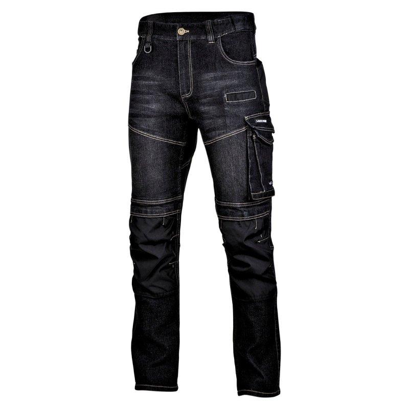 """Spodnie jeansowe czarne stretch ze wzmocn., """"m"""", ce, lahti"""